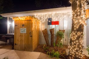 Outdoor Lights at Dusk