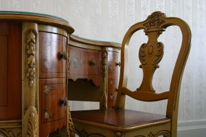 antique wooden desk