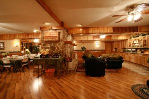 Wooden Floor and Leather Couches