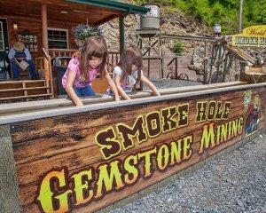 Smoke Hole Gemstone Mining bin