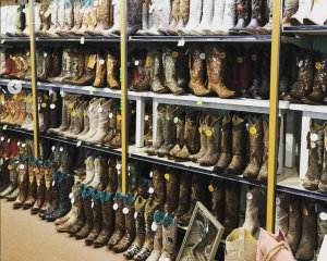 Cowboy Boot Display