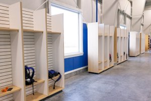 Shooters Soccer Club Facility indoor cubbys