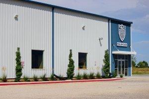 Shooters Soccer Club Facility exterior trees main entrance