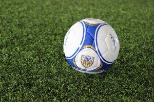 Shooters Soccer Club Facility Shooters logo on soccer ball