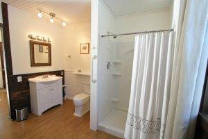 Old Saco Inn Lexington Room vanity and shower