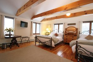 Old Saco Inn Saco Suite full room two beds side view