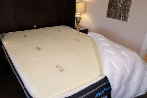 MySpine Mattress inside parts angled view