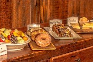 White Birch Inn Breakfast bar fruit and pastries