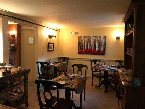 White Birch Inn Breakfast dining room