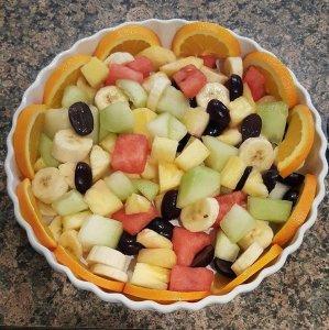 White Birch Inn Breakfast fruit bowl