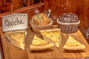 White Birch Inn Breakfast quiche and muffins