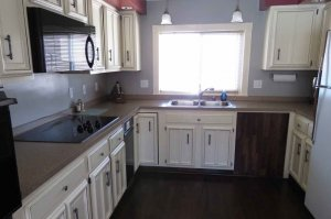 Kitchen Area with countertops