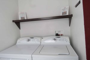 A washing machine and dryer