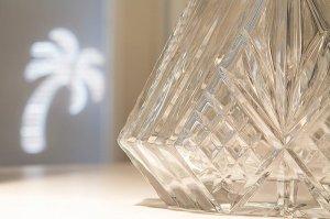 crystal vase detail