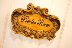 Sign reading powder room