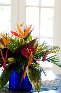 a floral arrangement