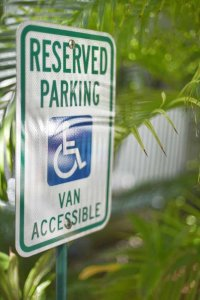 Reserved van accessible parking sign