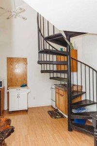 a spiral stairway