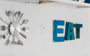 wall decor that says eat