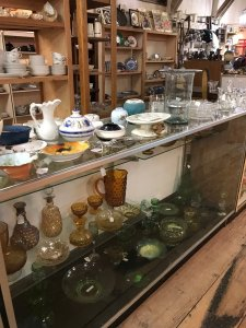 bowls in a display case