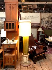 tall antique lamp