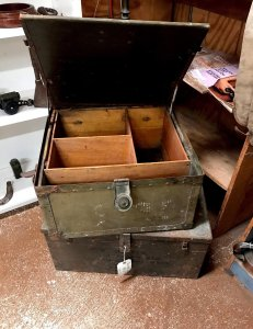 antique military trunk