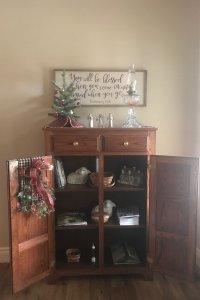 open cabinet