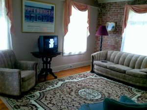 living room with couch chair and tv