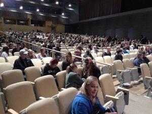 A crowd in an auditorium