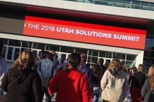 Students entering the 2018 Utah Solutions Summit