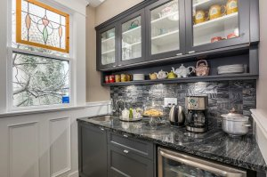 kitchen countertops and cupboards