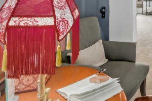 decorative lamp and guestbook