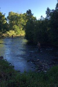 2 Men fishing in the Charma River