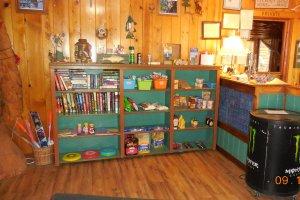 Lobby shelves