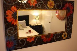 floral mirror frame