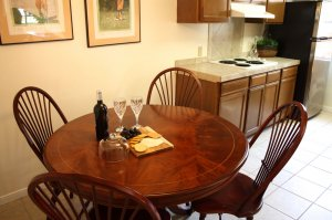 dining area with wine tray