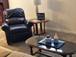 Recliner and Coffee Table