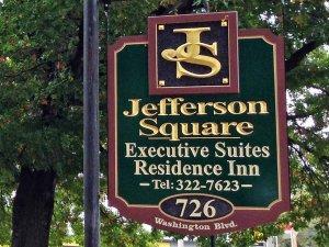 Jefferson Square Executive Suites Sign