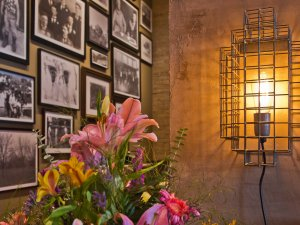 Flowers, Pictures hanging on wall, and Light