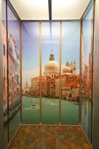 Elevator with Mural