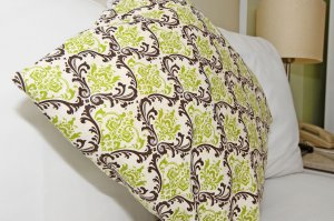 decorative green throw pillow
