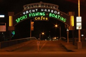 Yacht Harbor Sport Fishing Boating Cafes of Santa Monica