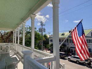 balcony overlooking street