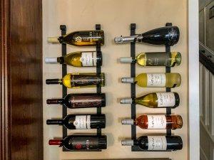 wine rack mounted on wall