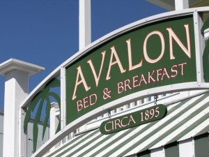 avalon bed and breakfast sign