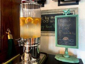 lemonade in beverage dispenser