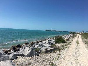 trail along beach