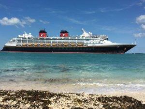 cruise ship off shore
