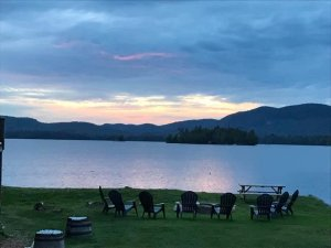 Landscaped Lawn Near Lake