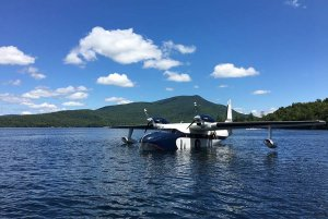 Plane Landed on the Lake